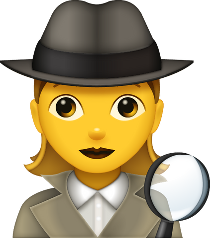 Download Detective Emoji - Woman [Iphone IOS Emoji PNG]