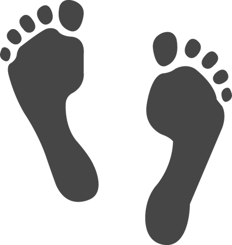 Download Footstep Emoji [Iphone IOS Emoji PNG]