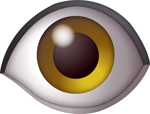 Download Eye Emoji [Iphone IOS Emoji PNG]
