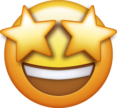 Image result for emoji with stars in eyes""