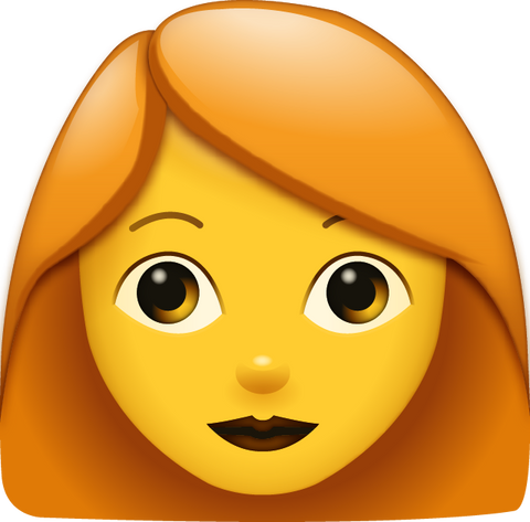 Download Red Hair Woman Emoji [Iphone IOS Emoji PNG]