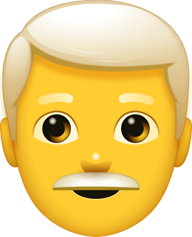 Download Grey Hair Man Emoji [Iphone IOS Emoji PNG]