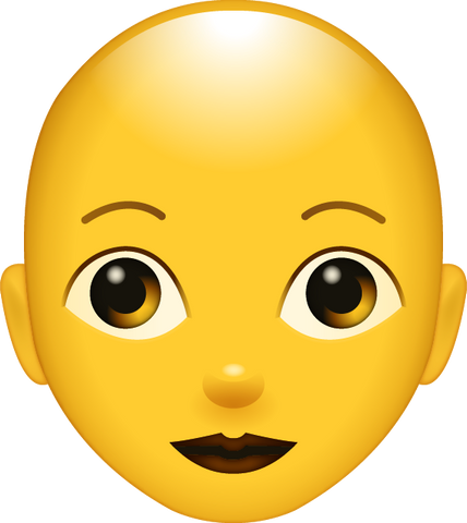 Download Bald Woman Emoji [Iphone IOS Emoji PNG]