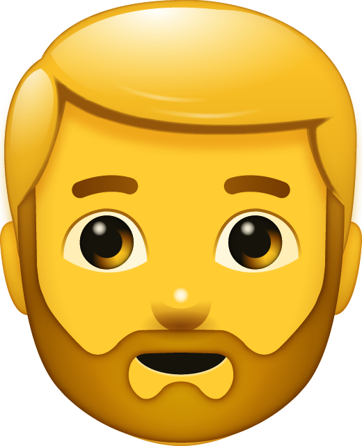 Beard Man Emoji