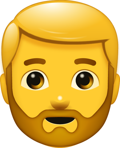 Download Beard Man Emoji [Iphone IOS Emoji PNG]