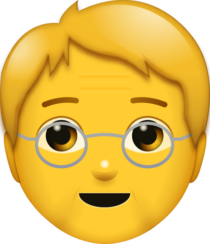 Download Old Man Emoji [Iphone IOS Emoji PNG]