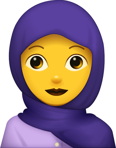 Download Woman With Hijab Emoji [Iphone IOS Emoji PNG]