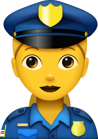 Download Police Woman Emoji [Iphone IOS Emoji PNG]