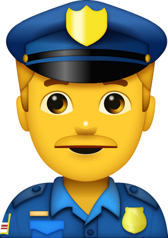 Download Police Man Emoji [Iphone IOS Emoji PNG]