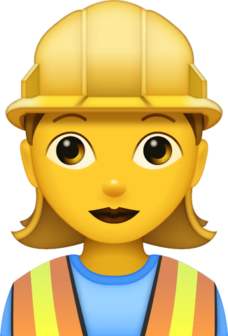 Download Woman Construction Worker [Iphone IOS Emoji PNG]