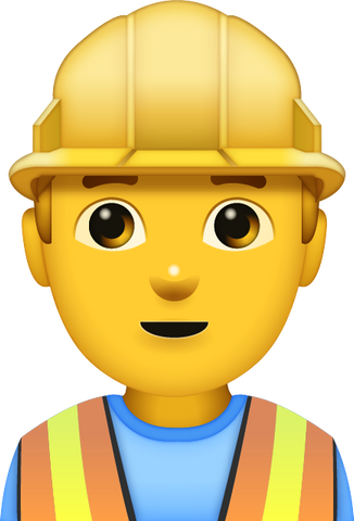 Download Man Construction Worker [Iphone IOS Emoji PNG]