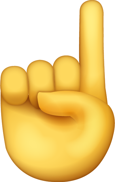 Index Finger Emoji [Free Download All Emojis] | Emoji Island