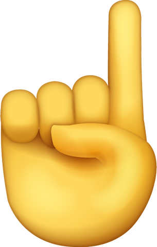 Download Index Finger Emoji [Iphone IOS Emoji PNG]