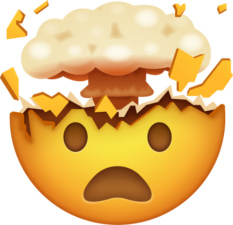 Download Exploding Face Emoji [Iphone IOS Emoji PNG]