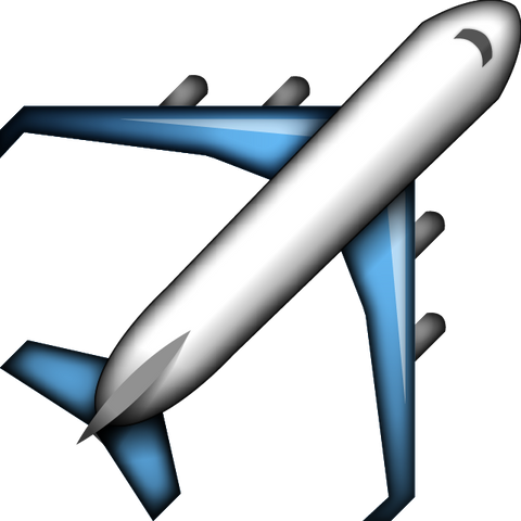 Download Airplane Emoji Icon