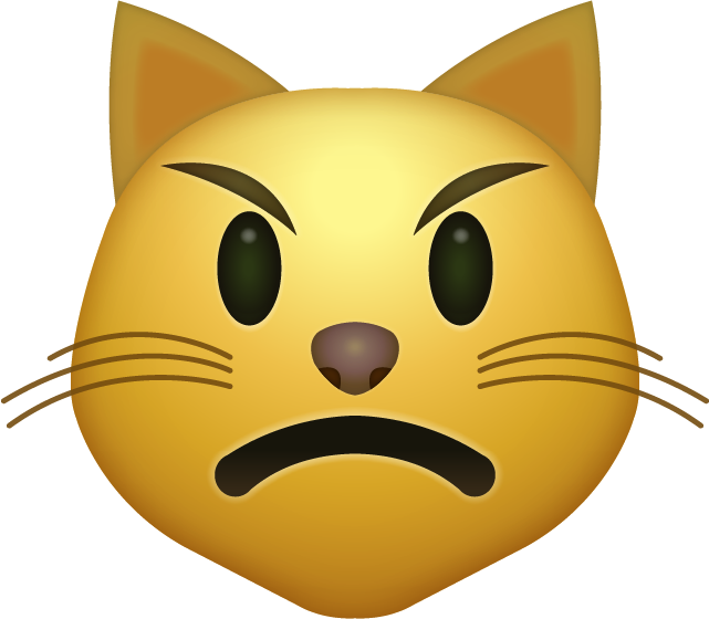 Download Angry Cat Emoji face [Iphone IOS Emojis in PNG]