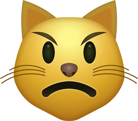 Angry Cat Emoji [Download All Emojis In PNG]