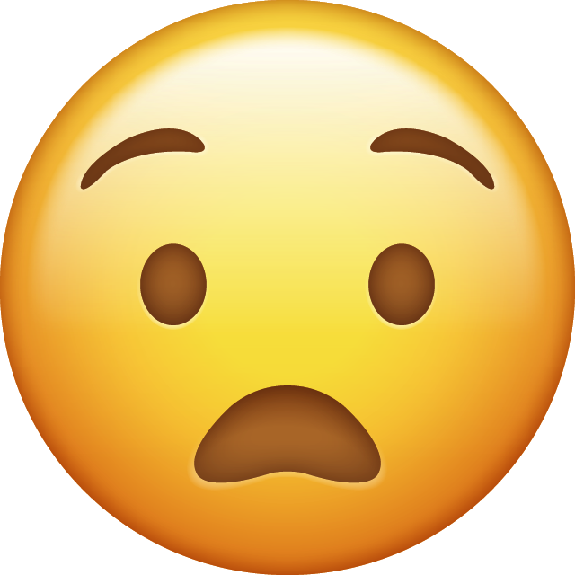 Anguished Emoji [Download IOS Face Emojis]