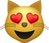 Download Heart Eyes Cat Emoji face [Iphone IOS Emojis in PNG]