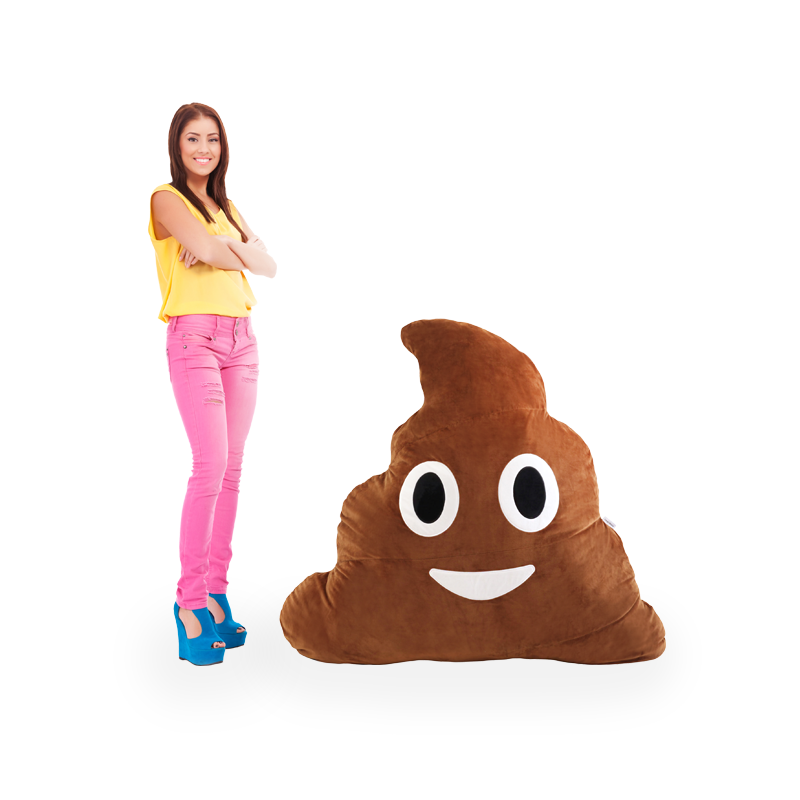 Giant Poop Emoji Pillow - Big Plush