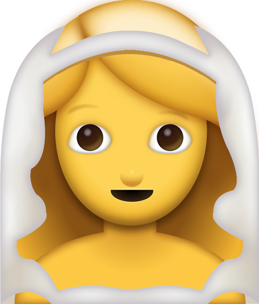 download bride with veil iphone emoji icon in jpg and ai