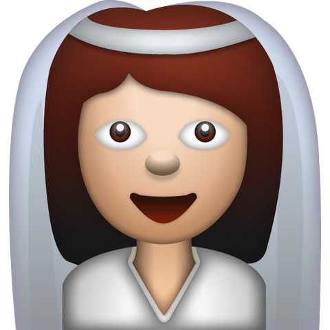 download bride with veil woman emoji Icon