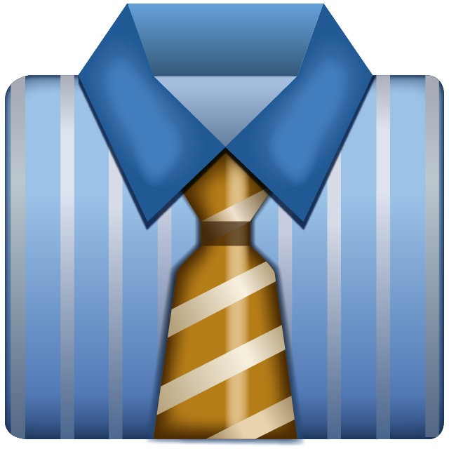 Business Shirt With Tie Emoji