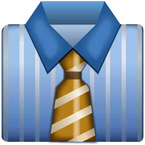 Download Business Shirt With Tie Emoji Icon