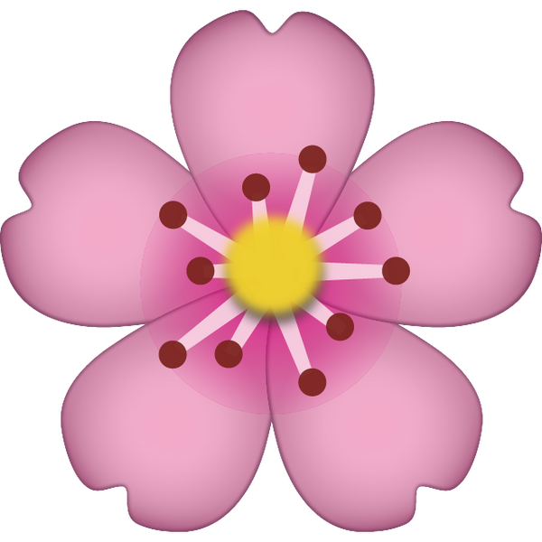 Download Cherry Blossom Emoji Icon