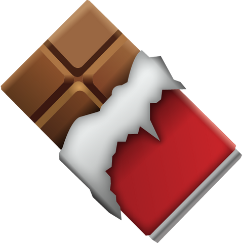 Download Chocolate Bar Emoji Icon For Free