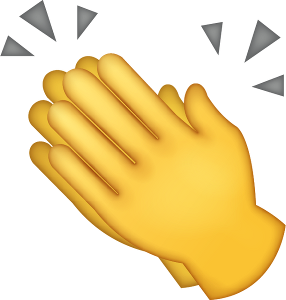 download clapping hands iphone emoji icon in jpg and ai cap clipart black and white cap clipart