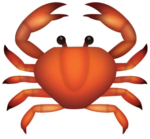 Download Crab Iphone Emoji Icon in JPG and AI