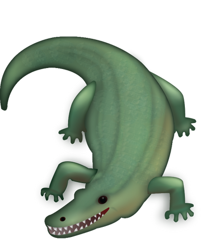 Crocodile Emoji [Download iPhone Emoji In PNG]