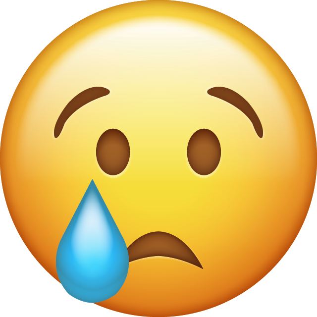 Download Crying Emoji face [Iphone IOS Emojis in PNG]