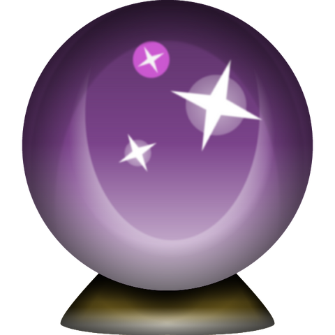 Download Crystal Magic Ball Emoji Icon