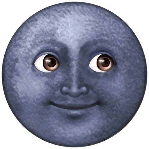 dark blue moon emoji Icon