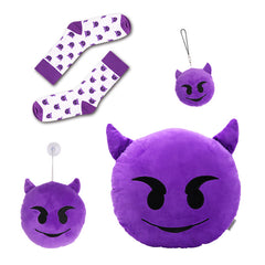 Devil Emoji Pillow, Plush, Keychain, Socks