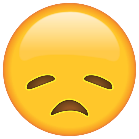 download disappointed face emoji Icon