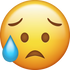 Download Disappointed but Relieved Iphone Emoji JPG