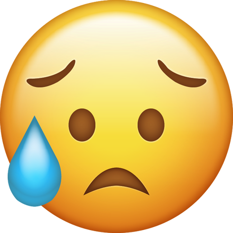Disappointed but Relieved Emoji Icon