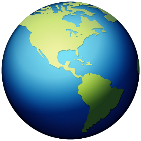 download earth globe americas emoji Icon