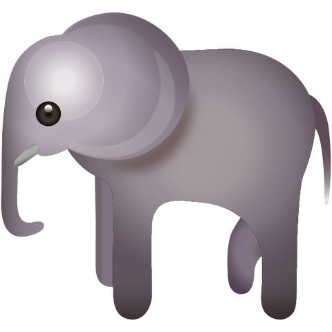 download elephant emoji Icon