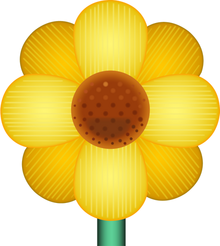 Download Yellow Blossom Emoji PNG