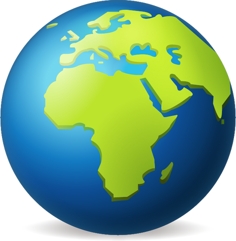 Download Earth Globe Europe Africa Emoji PNG