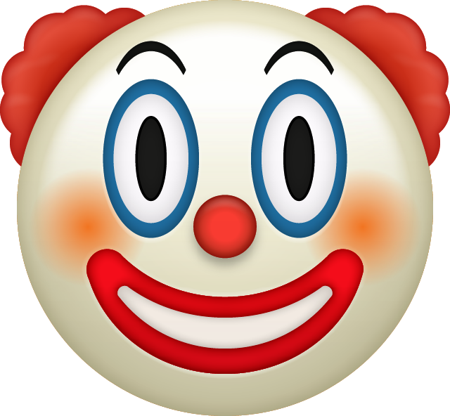 Download Clown Emoji face [Iphone IOS Emojis in PNG]