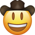 Download Cowboy Emoji face [Iphone IOS Emojis in PNG]