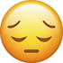 Download Sad Emoji face [Iphone IOS Emojis in PNG]
