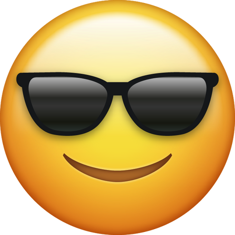 Sunglasses Cool Emoji [Download iPhone Emoji]