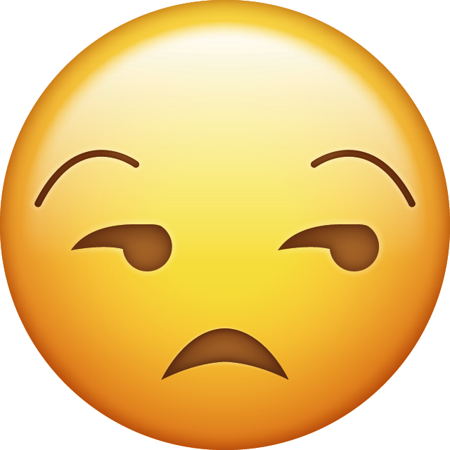 Unamused Emoji [Free Download IOS Emojis] | Emoji Island