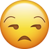 Download Unamused Emoji face [Iphone IOS Emojis in PNG]